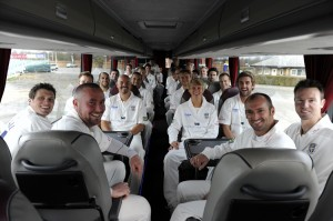 Durham Team On Bus Crica 2009